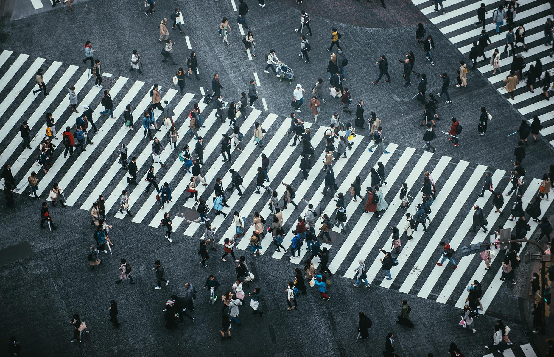 Slide 4 of 41: Deemed the world's busiest pedestrian crossing, you'll find it in an Asian capital, home to almost 10 million residents.