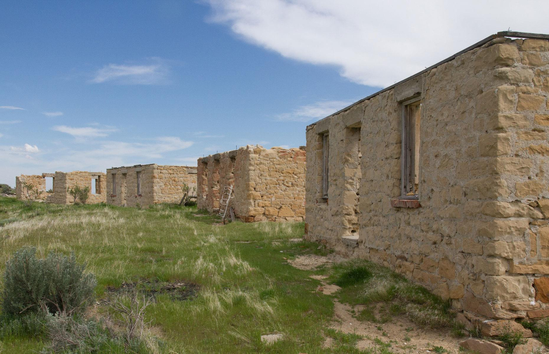 Slide 101 of 101: The ghost town stayed standing until 1971 when most of the buildings were razed to the ground. Only the ruins of the bulldozed town and its cemetery remain, and they make for a particularly bleak sight. Now discover someabandoned projects the US government spent billions of taxpayers' money on
