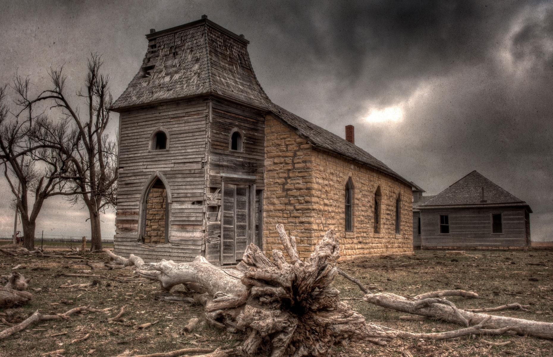 Slide 33 of 101: Today all that remains is the deserted church and its requisite graveyard. Certainly not for the faint of heart, the wooden and brick buildings have a nightmarish quality about them – we reckon they'd make the perfect backdrop for a horror movie or edgy fashion shoot.