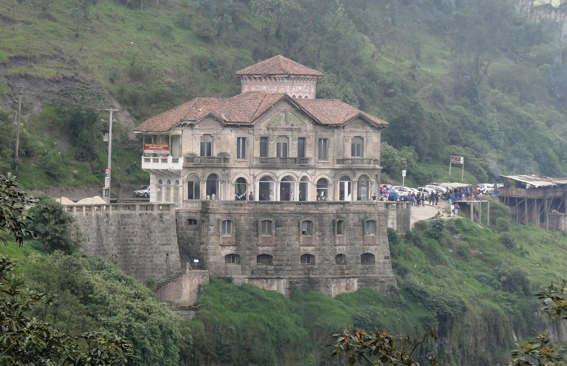 Slide 2 of 70: Overlooking the stunning Tequendama Falls, this hotel opened in 1929. For decades it welcomed thousands of wealthy tourists, who came to see the spectacular waterfall.