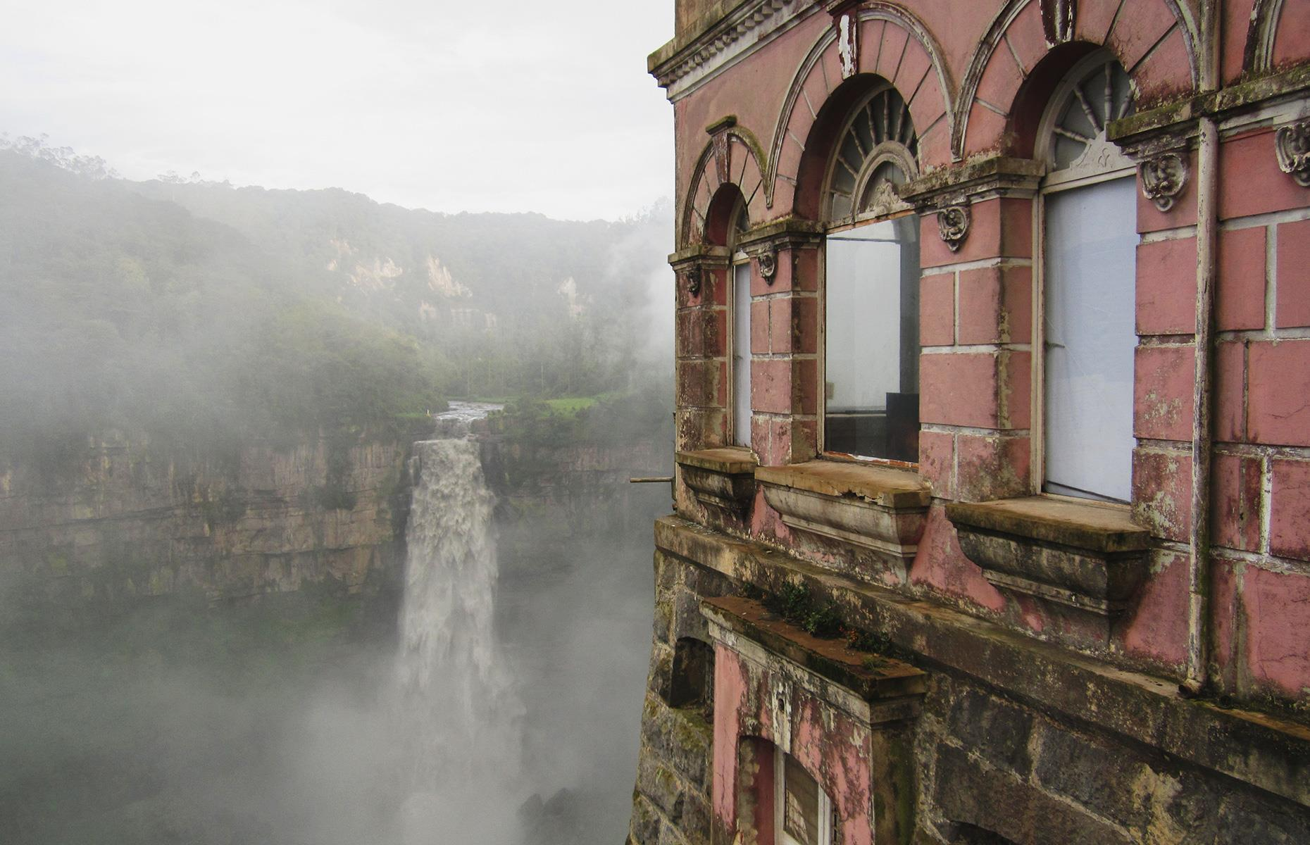 Slide 3 of 70: But as the Bogotá river got increasingly contaminated with sewage and other liquid waste, the tourist numbers slowly dwindled. The hotel closed in the early 1990s but a museum exhibition about biodiversity was recently set up in the abandoned space.