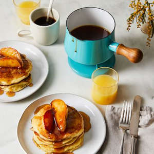 a plate of food and a cup of coffee: Food52 x Dansk Kobenstyle Saucepan