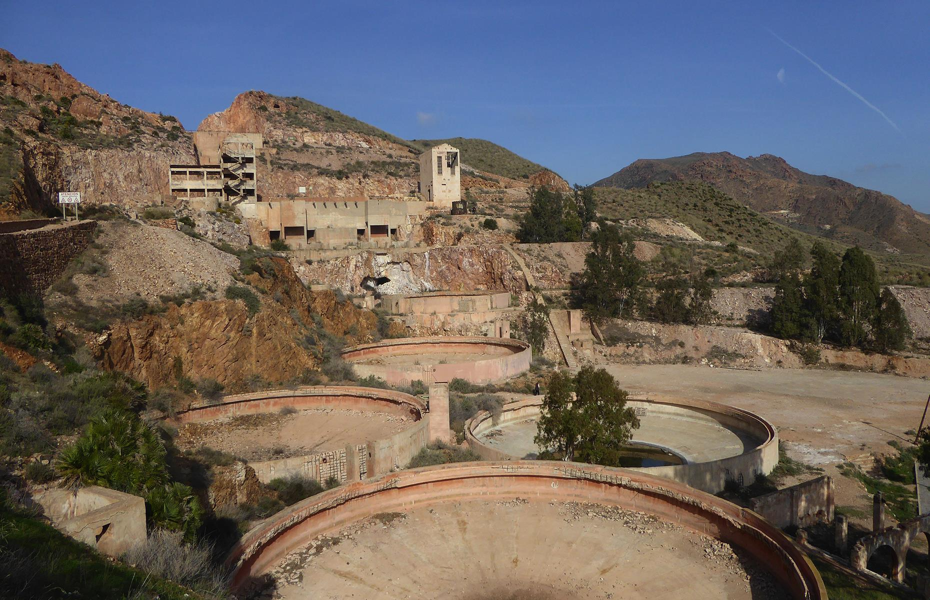 Slide 47 of 68: If you haven't been to Rodalquilar in Spain, chances are you've seen it on Indiana Jones and the Last Crusade. From 1864 to 1990 this was a bustling village with 1,400 people and one of the biggest gold mines in western Europe.