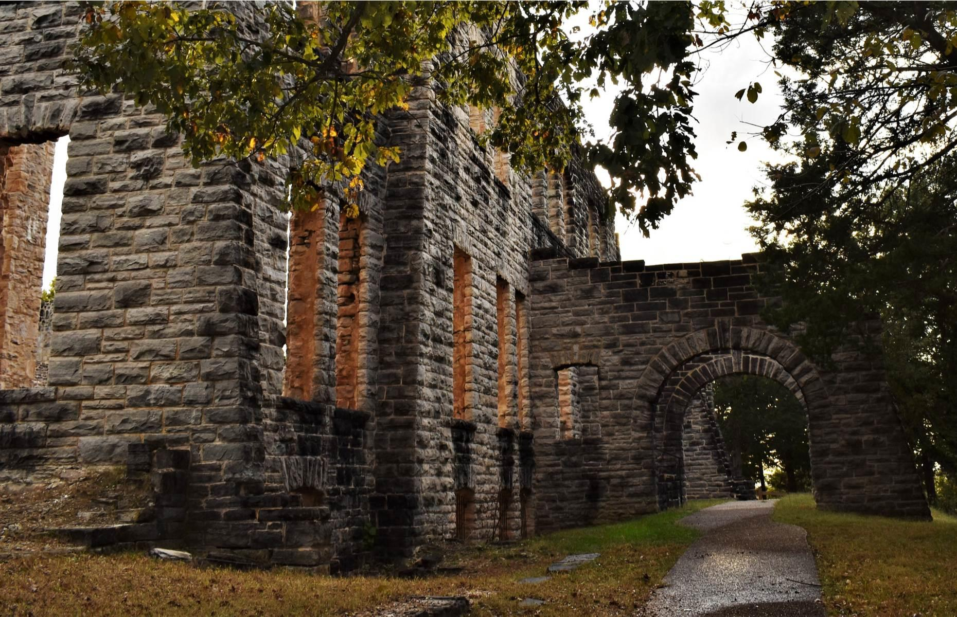 Slide 9 of 29: However, in the late 1970s, the state of Missouri bought the land and today the ghostly ruin has become a tourist attraction and a site for hiking and nature walks.Find more spectacular American castles you never knew existed here.