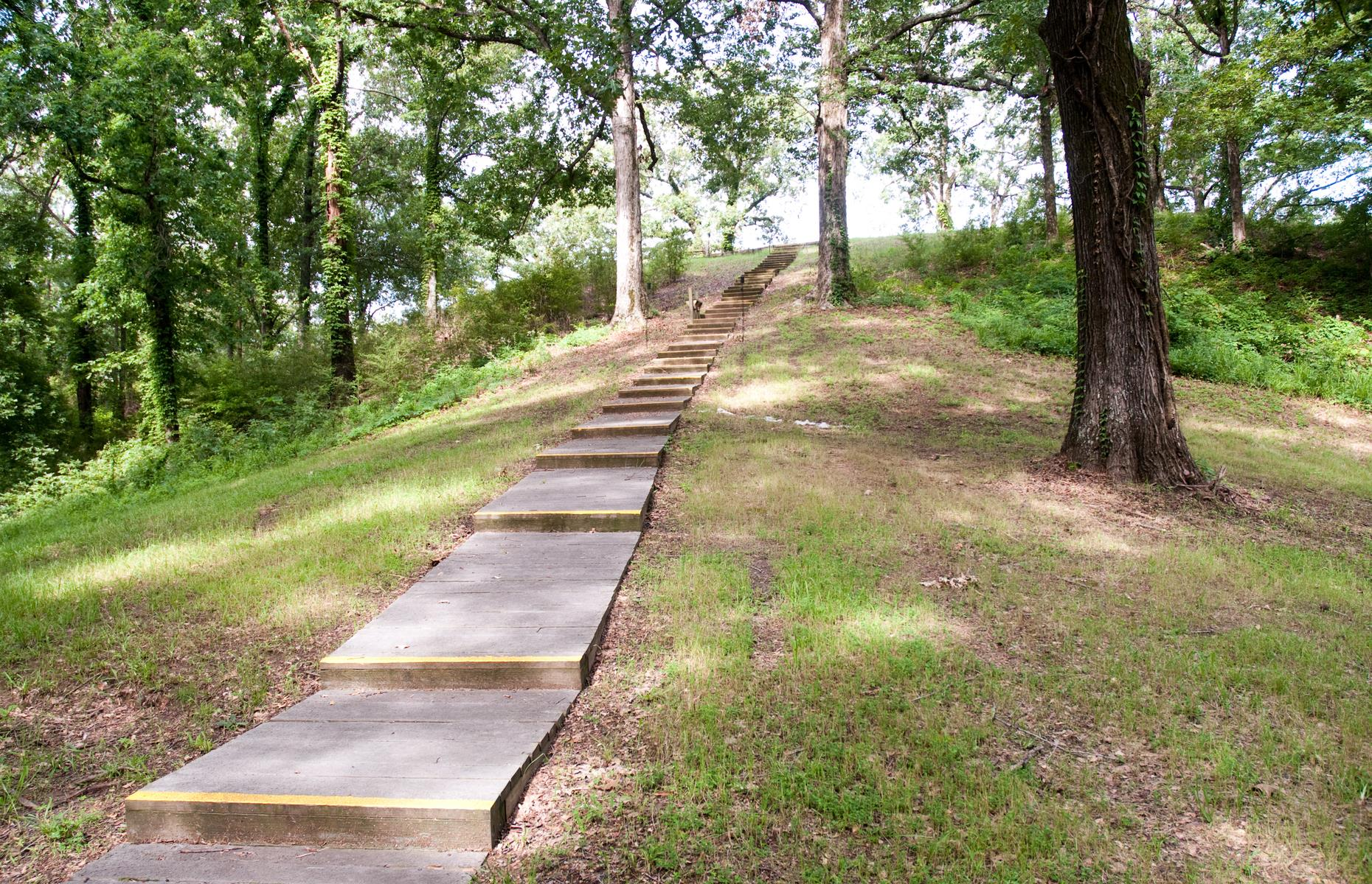 Slide 23 of 27: The earthen mounds at and around Poverty Point dwarf most others in size and also age – the nearby Lower Jackson Mound has been dated to about 3900 BC. It's thought that the impressive mounds and concentric half-circles here were shaped by hand too.