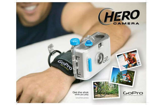 Slide 9 of 31: Woodman developed his idea further and, with the help of a loan from his father, launched the first GoPro Hero in 2004. The product consisted of a Chinese-made 35mm camera and Woodman's custom strap. Sales were buoyant from the get-go and doubled year on year.