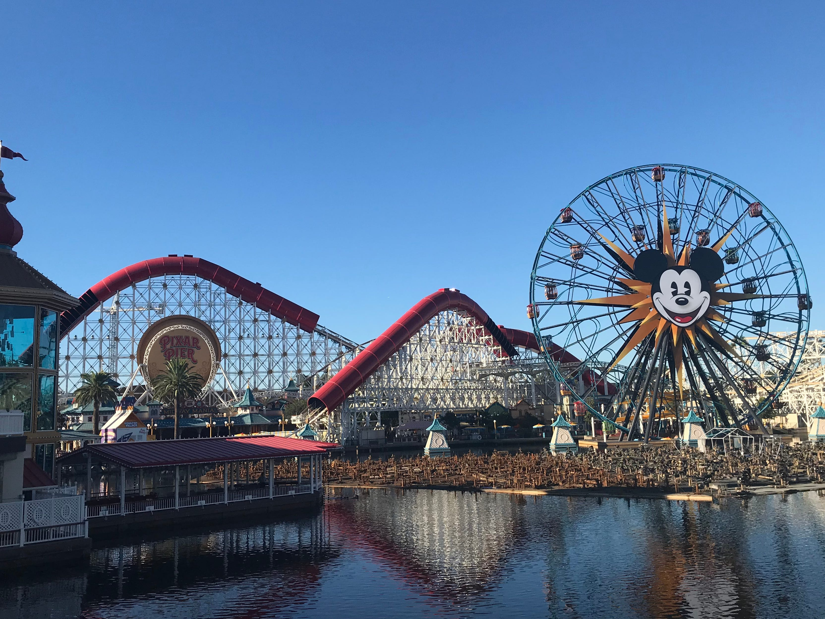 Slide 11 of 23: The Incredicoaster, which can be found at Pixar Pier inside Disney California Adventure Park, is the fastest attraction at the resort at 55 mph.It's also the longest thrill ride on the pier with over a mile of track to cover.