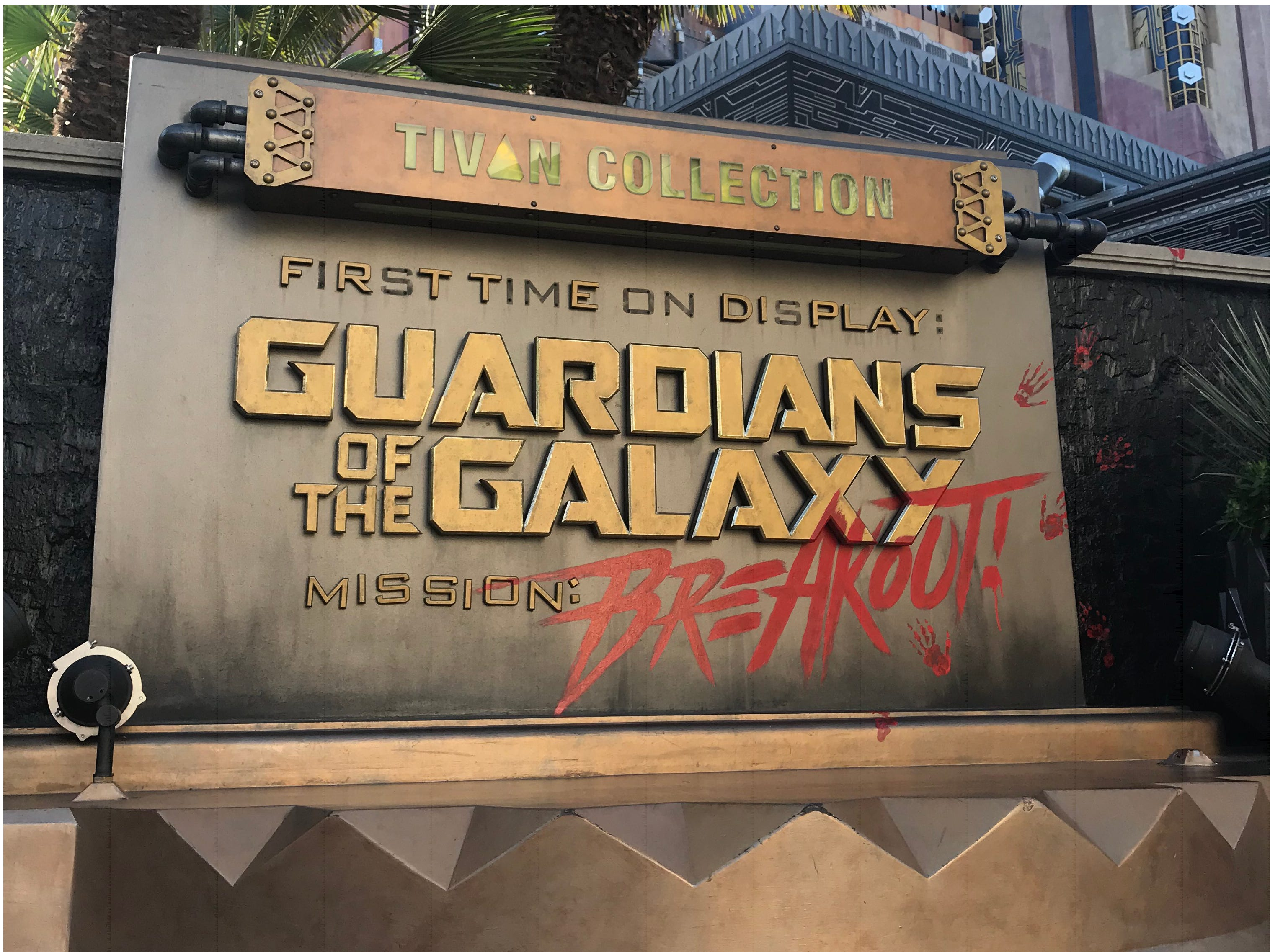 """Slide 9 of 23: Riders can experience up to six different ride sequences on Guardians of the Galaxy – Mission: BREAKOUT! — each of which has its own synchronized song including """"Hit Me With Your Best Shot"""" by Pat Benatar, """"Give Up the Funk"""" by Parliament, and """"I Want You Back"""" by The Jackson 5.Guardians of the Galaxy – Mission: BREAKOUT! replaced the beloved Tower of Terror back in 2017, and with the change of theme came a change of intended emotions. Instead of feeling fear during the ride's iconic drops, Imagineers sought to inspire laughter and giddiness."""