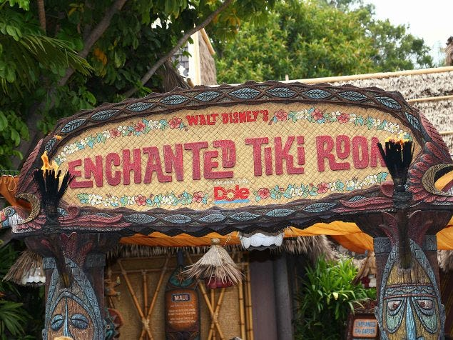 Slide 22 of 23: When Walt Disney's Enchanted Tiki Room opened at Disneyland in 1963, guests could not use a ticket from their entry booklet to get in.The attraction had special tickets priced at just $0.75.
