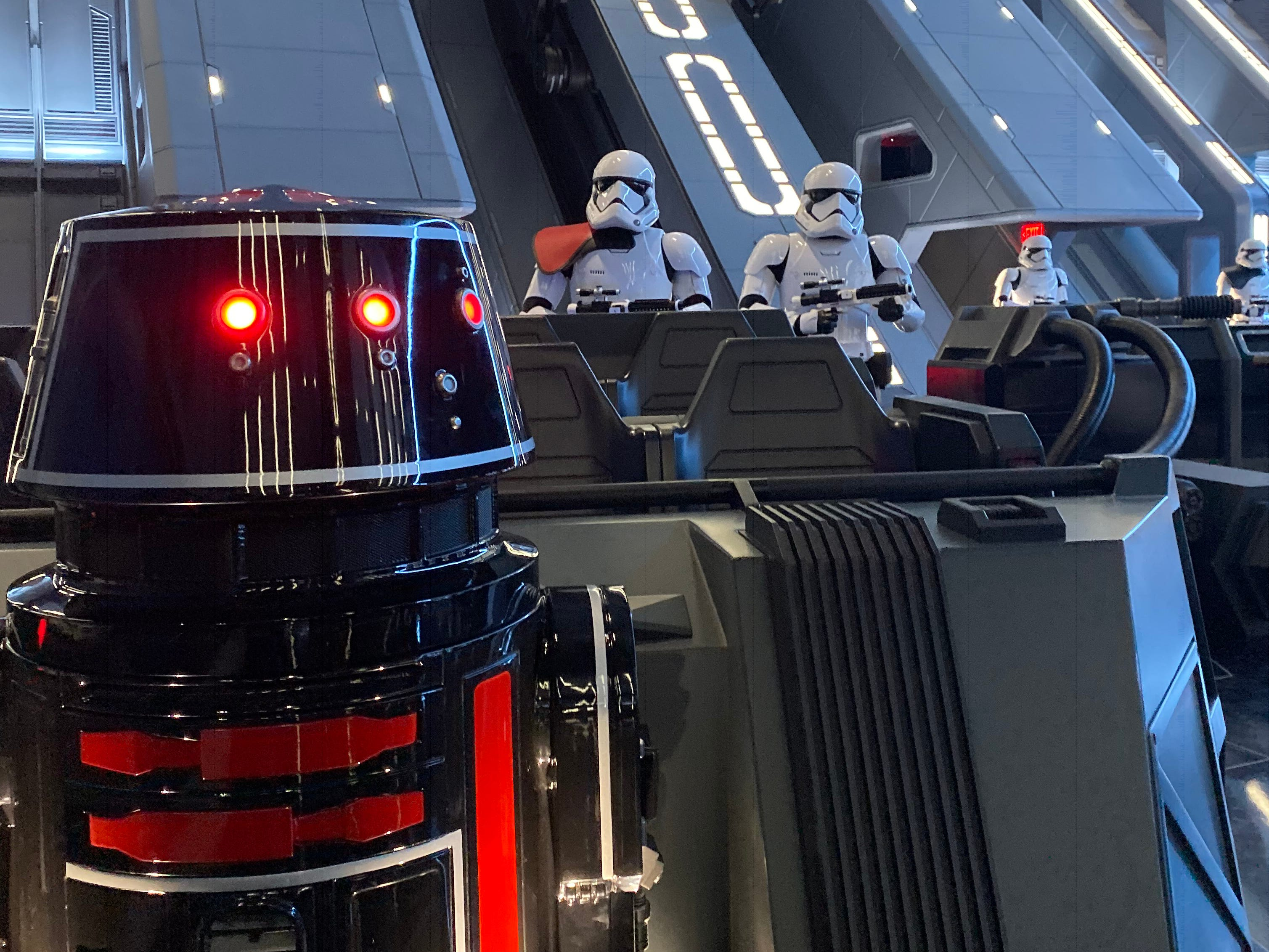 """Slide 23 of 23: Throughout Star Wars: Rise of the Resistance, guests are greeted by characters like Rey, Finn, Kylo Ren, General Hux, and Poe Dameron — all of who are played by the original actors from the current """"Star Wars"""" trilogy.Between these character sightings, the ride takes guests through the hangar bay of a Star Destroyer where they'll find 50 First Order Stormtroopers, some of which are animatronics.Read more:19 Disney rides and attractions that opened this decade — and 11 that closedDisney just dropped a new kitchen collection, and some items cost as little as $820 relaxing things you can do on a Disney World vacation outside of the parksEvery single Disney attraction that opened in the 2010s"""