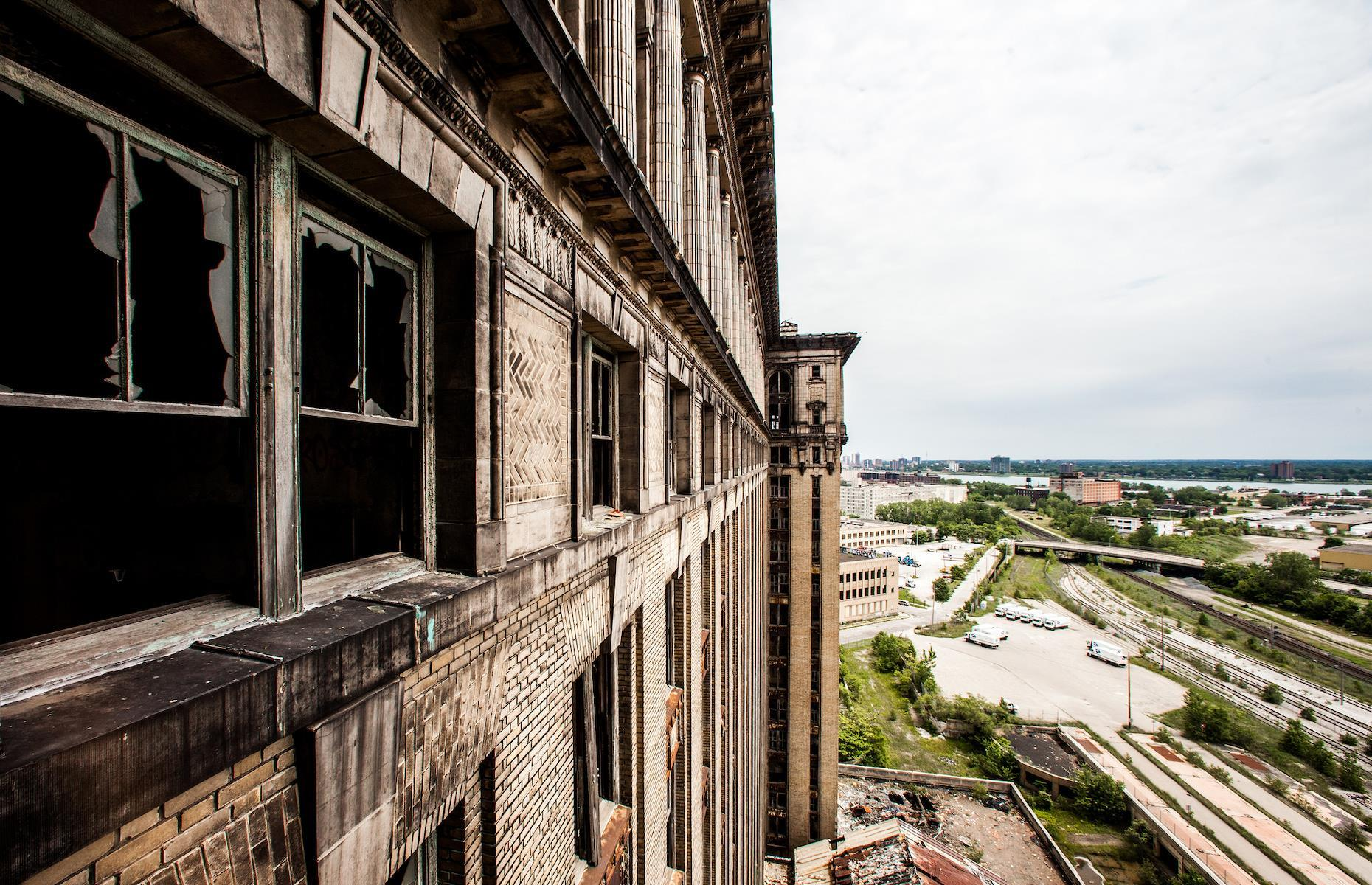 Slide 4 of 33: After its closure, the building was heavily vandalized and began to crumble away over the years. However, echoes of its grand interior still remain. Ford has announced that its mixed-use redevelopment plans will include restoration of the former station's grand lobby for public use. Take a look at these incredible images that capture the history of train travel.