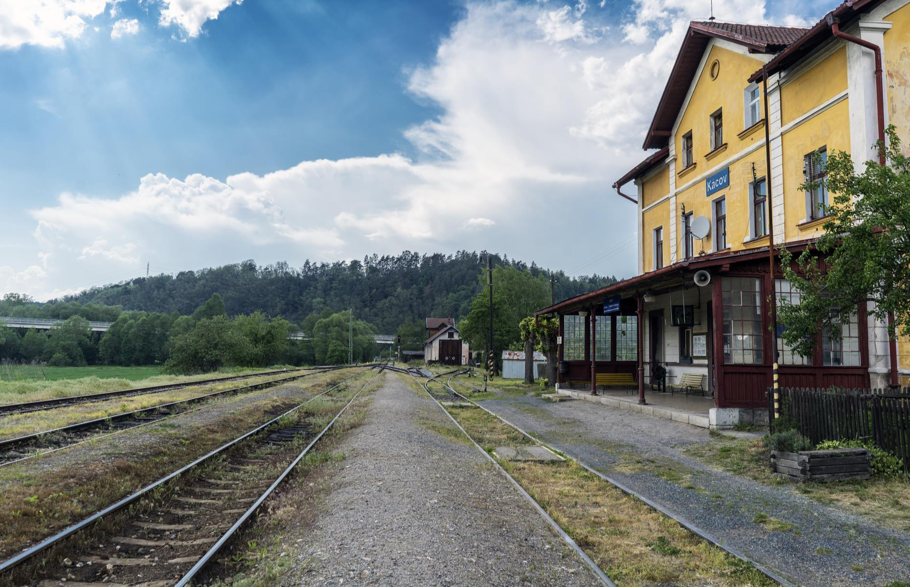 Slide 9 of 33: This picturesque railway station can be seen in the small town of Kácov in Czech Republic's Central Bohemia region. Though abandoned and neglected, the disused station building has plenty of charm. It has even been used as a filming location for movies such as the 2001 Czech drama Dark Blue World.