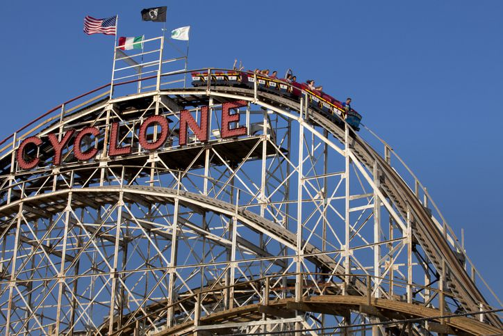 "Slide 10 of 15:  Dubbed as the ""Big Momma"" of Coney Island, it remains today one of the most popular New York City attractions for visitors. The coaster was named a New York City landmark in 1988 and a National Historic landmark in 1991."