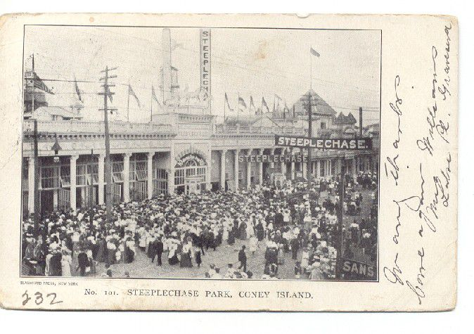 Slide 4 of 15: Founded by George C. Tilyou and operating from 1897 to 1964, it was the first of four Coney Island amusement parks built. The successors include: Luna Park (1903-1944), Dreamland (1904-1911), Astroland (1962-2008) and a second Luna Park (2010 to present). The main attraction of Steeplechase Park was, of course, the horse-based Steeplechase ride. Riders would begin at a horse-race-like starting line and sit in horse-shaped cars that would release at the same time to simulate a competition.