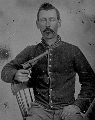 Slide 7 of 32: Liddil was already stealing horses when he met Jesse James and joined his band of outlaws in 1879. He took part in a string of bank robberies, but later fell out with the James brothers. In 1882, he turned himself in along with Robert Ford, who would later assassinate Jesse James. Liddil testified against Frank James in exchange for being pardoned. A free man, he went on to become a wealthy horse owner, and died at the racetrack in 1901 of a heart attack.