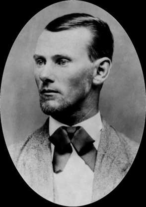Slide 3 of 32: One of the most iconic figures from the era, Jesse Woodson James was the leader of the James-Younger Gang, a group of outlaws based in the state of Missouri and among the most feared, most publicized, and most wanted band of desperados on the American frontier. His criminal career ended when he was shot and killed in 1882.