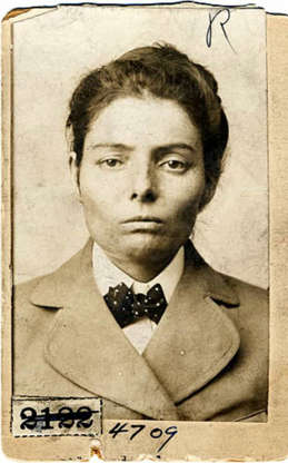 """Slide 13 of 32: By the time she was 13, Laura Bullion had already met two members of the """"Wild Bunch,"""" and by the early 1890s was riding with Butch Cassidy's gang. In fact, she became romantically involved with one of them–Ben Kilpatrick. Arrested and jailed for her part in a train robbery, Bullion was released in 1905 and later moved to Memphis, Tennessee. She died there in 1961. She was the last surviving member of the Wild Bunch Gang."""