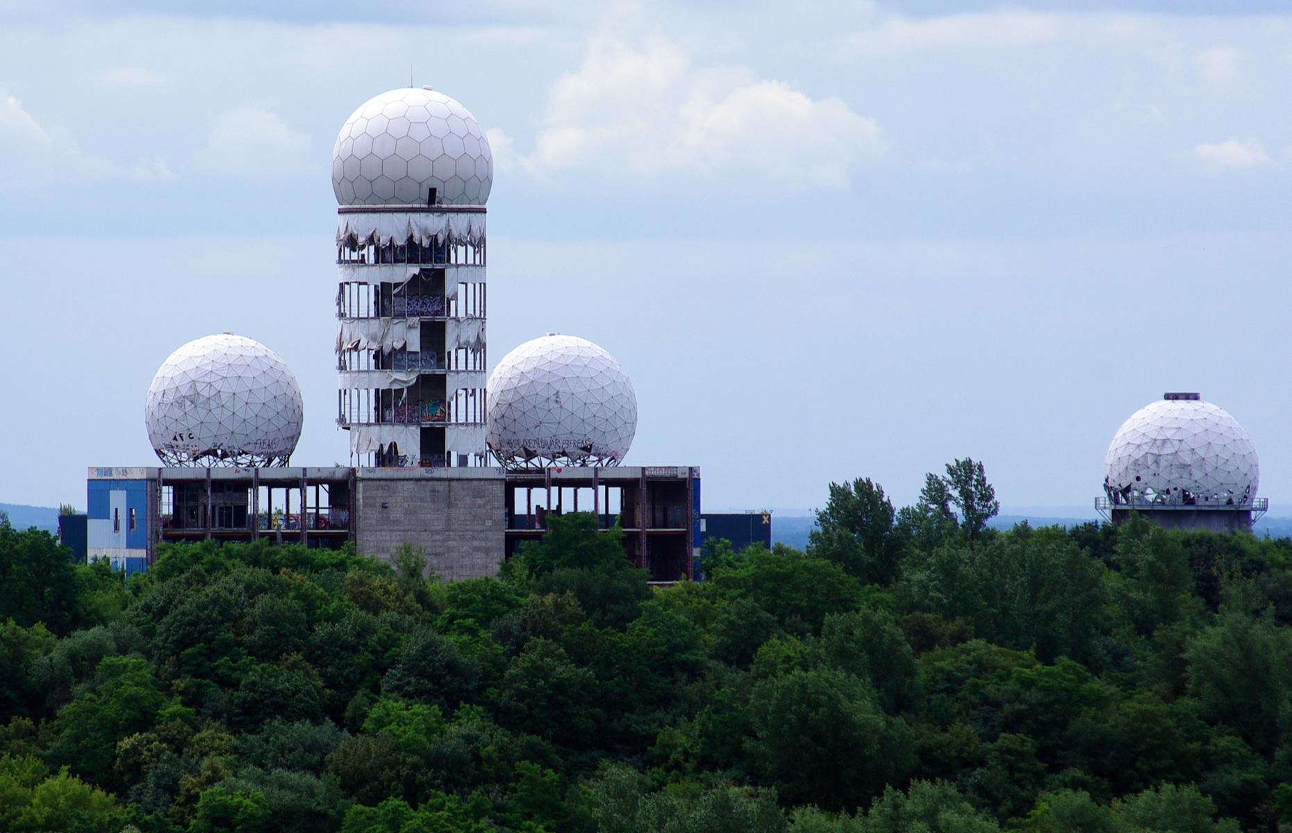 Slide 32 of 51: The four mysterious radomes of Teufelsberg seem to be a bit out of place. Little is known about what exactly was listened to and what methods were used. Not until 2020 anyway, when the archives are supposed to be opened to the public...