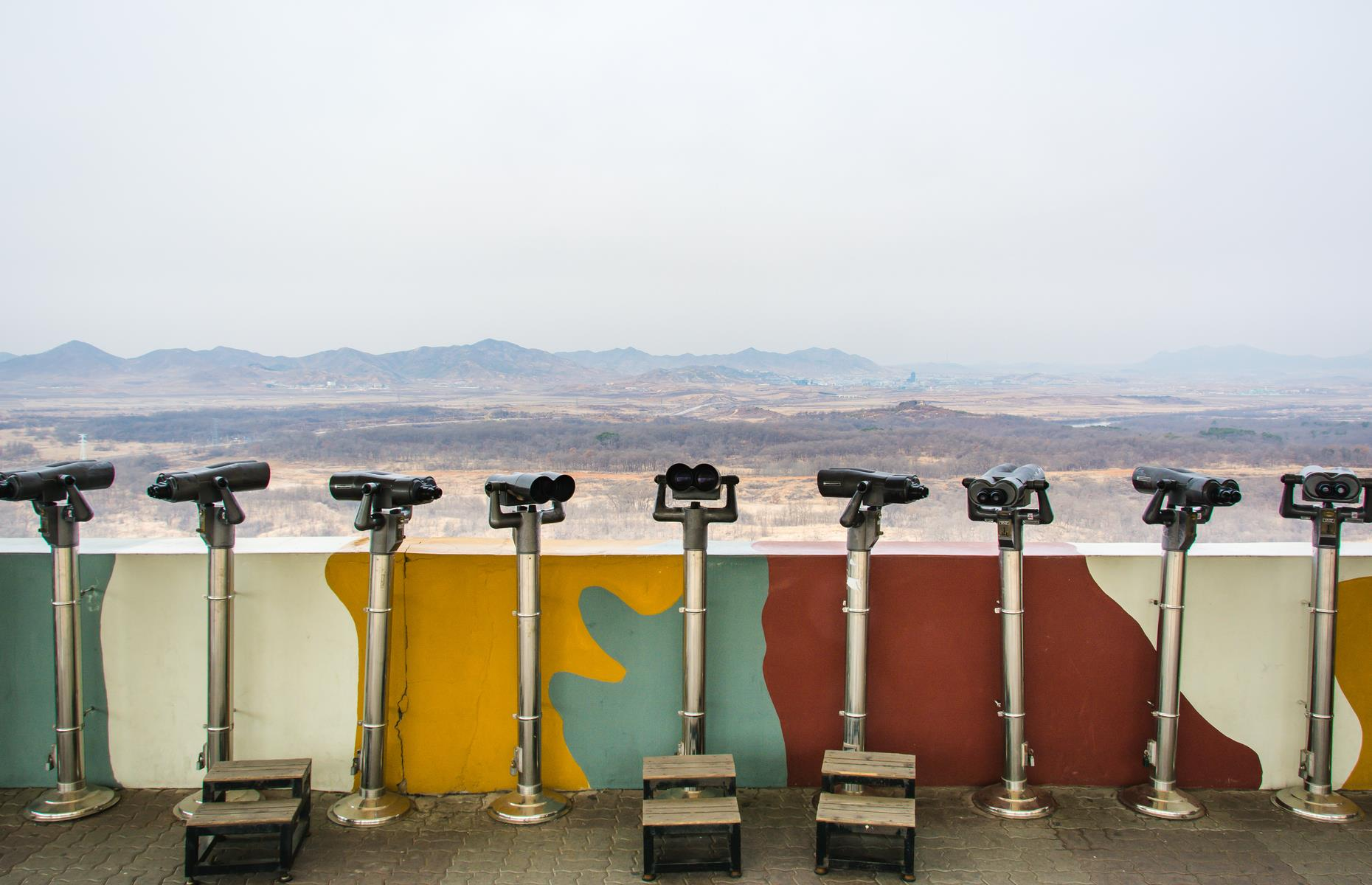 Slide 3 of 51: Albeit a no-go area, the DMZ is also a tourist magnet. More than 1.2 million visitors are usually welcomed every year (typically via Seoul) to see barbed wire fences, infiltration tunnels and glimpse Kim Jong-un's hermit kingdom in the north through binoculars.