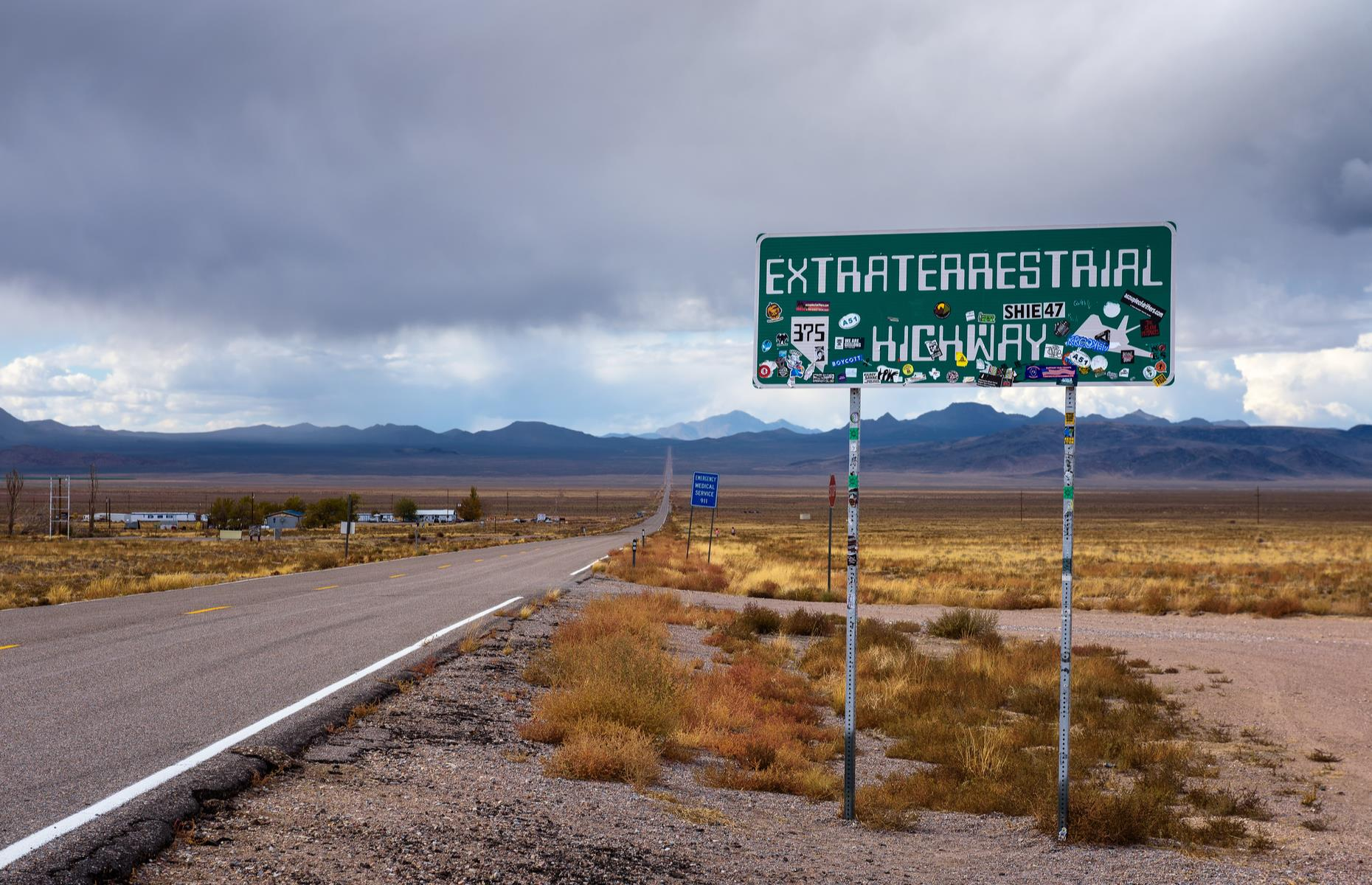 "Slide 11 of 51: No wonder the state of Nevada officially named the State Route 375, the ""Extraterrestrial Highway"" in 1996. Along the road, travelers have reported UFO sightings and alien activity, and for decades have met at a mailbox – 12 miles (19km) from Area 51 – to discuss them."