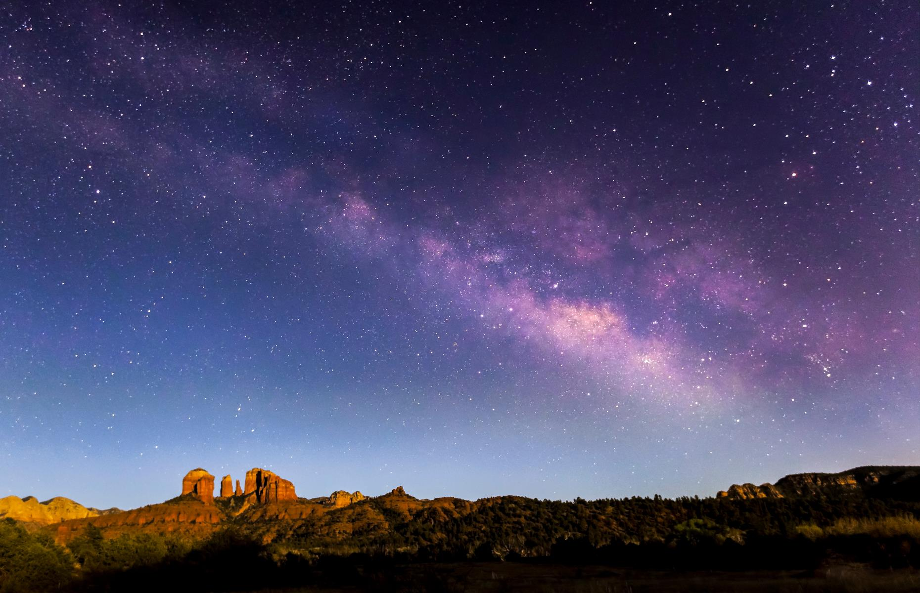 Slide 13 of 30: Cathedral Rock is a protruding icon of Sedona's tiny and modest cityscape, and accessible in only 12 minutes by car. And due to this tiny town's low levels of light pollution, Sedona and its Rock are excellent spots for studying the night sky. In fact, it's been a member of the IDA International Dark Sky Community since 2014. Astronomy club Sirius Lookers currently have a tentative schedule of events – check its website for details.