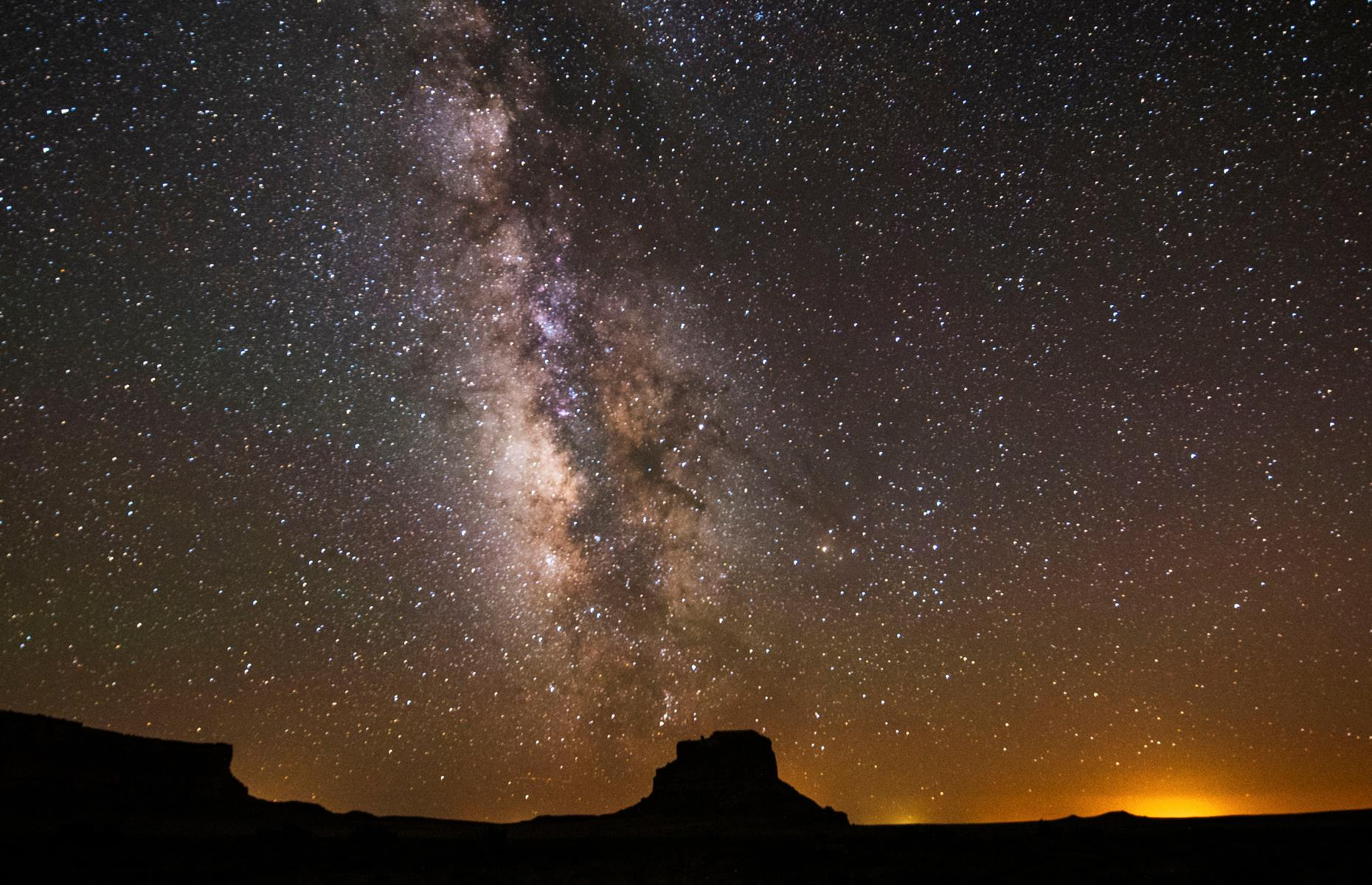 Slide 4 of 30: Named an International Dark Sky Park in 2013, Chaco founded its own Night Sky Program in 1991. It strives to provide the same viewing conditions Chacoan people enjoyed a millennia ago, with no permanent outdoor lighting found across 99% of the park. The park typically offers a range of public astronomy programs too, but check the NPS website for up-to-date schedules.
