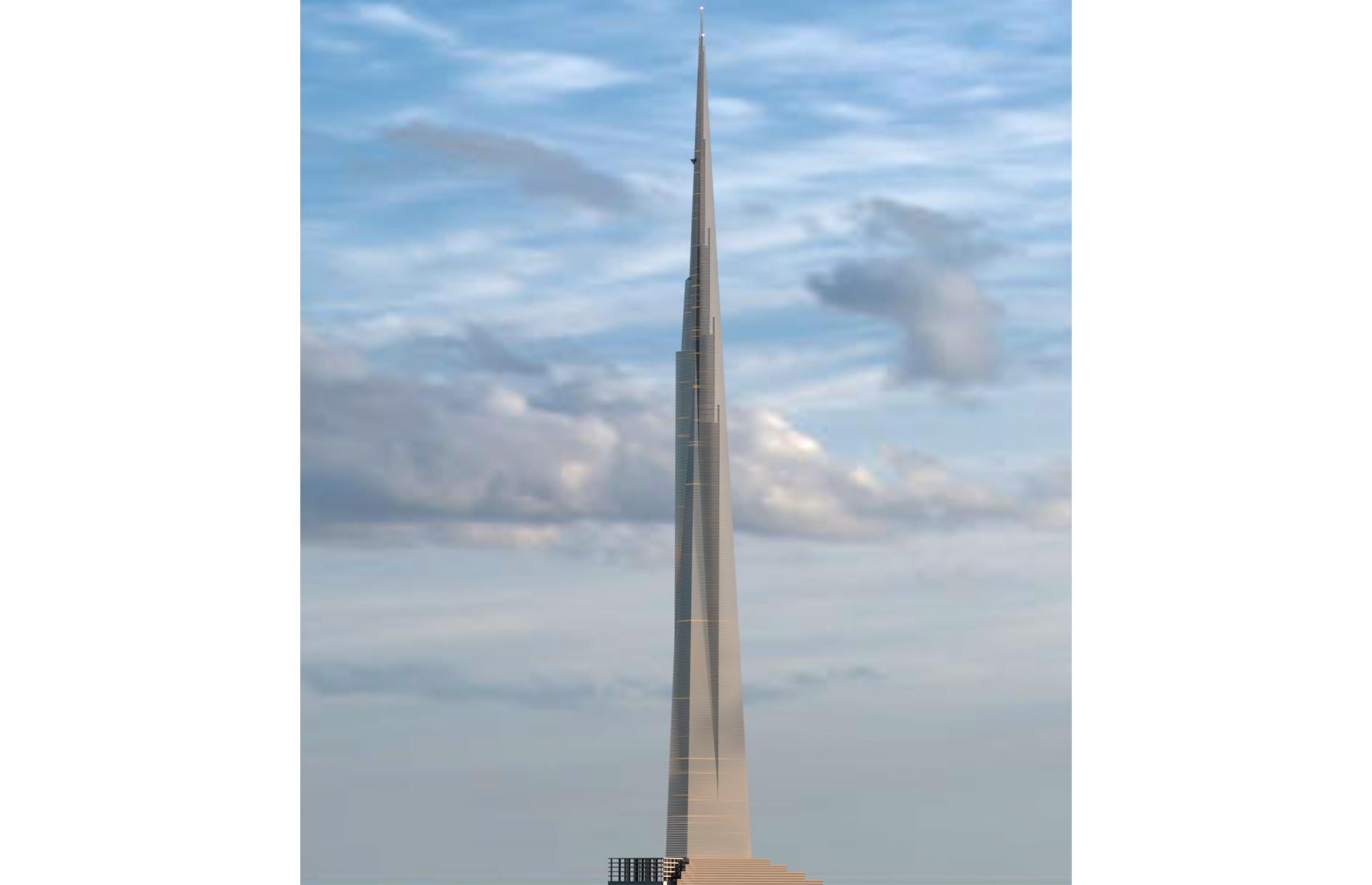Slide 6 of 28: Had it been built, The Illinois (pictured) would have been one mile (1,600m) high, with more than 500 stories and room to house 100,000 people. Even today it would be the tallest building in the world, some 2,625 feet (800m) higher than Dubai's towering Burj Khalifa. Wright's plans never left the drawing board though, and the largest building in Chicago remains the diminutive 1,450-foot (442m) Willis Tower. Discover some of the world's tallest hotels here.