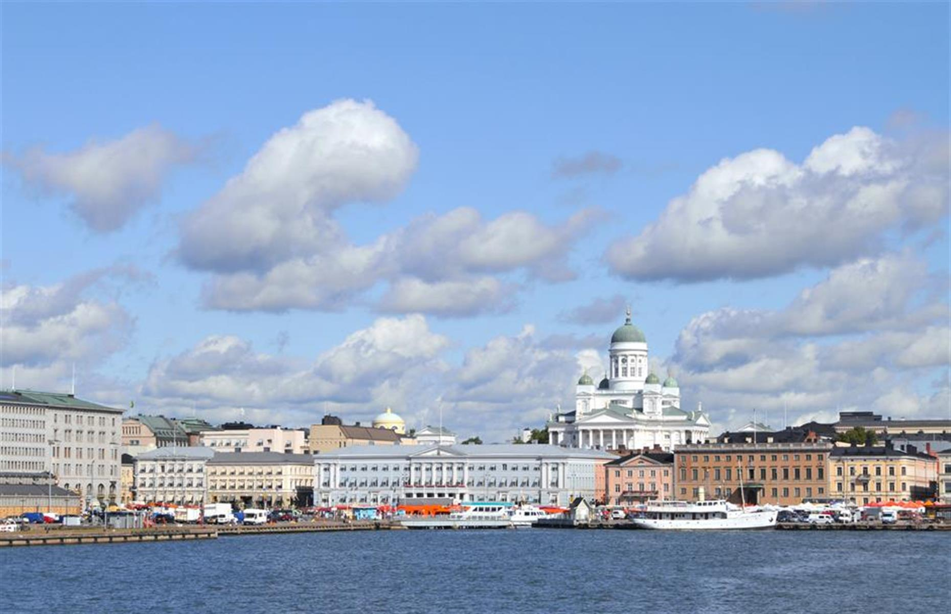 Slide 14 of 28: In the early 2010s, plans were in full swing to build a Guggenheim museum in the Finnish capital. The prestigious art museum would have been situated on Helsinki's South Harbour, Eteläsatama (pictured), and the building's design was to be decided by an international competition. The uber-modern winning design by Parisian firm Moreau Kusunoki Architects included a series of vast timber-clad buildings and a teetering tower with views over the water.