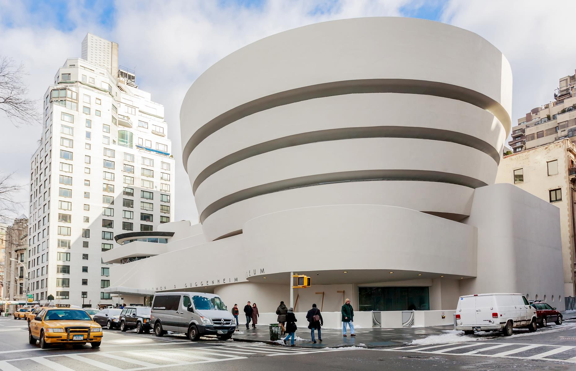 Slide 15 of 28: The waterfront museum would have joined the famed Solomon R. Guggenheim Museum in New York City (pictured). However, after lengthy debates, the Finnish government decided not to contribute the necessary funds to the museum project. The Solomon R. Guggenheim Foundation did not find alternative funding so the project ultimately fell through.