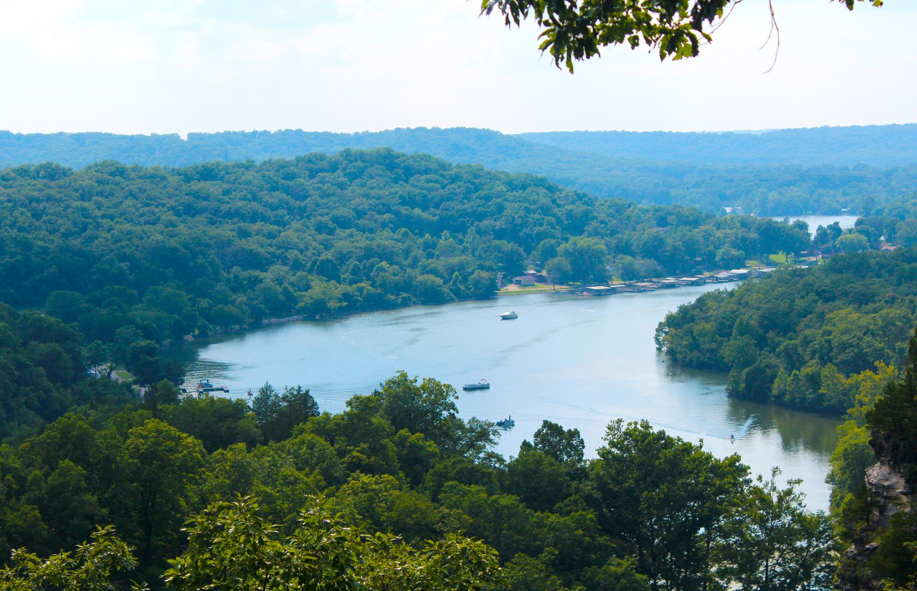 """Slide 50 of 101: An easy weekend escape from the buzzy city of Springfield, picturesque Camdenton is often billed as the """"Hub City of Lake of the Ozarks"""" (pictured). The little Ozarks city is reached by a pleasant 75-mile (121km) drive, much of which is along bucolic MO-73, and driverscan be in Camdenton within one hour 30 minutes."""