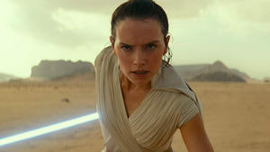 Daisy Ridley standing in front of a beach: Star Wars: The Rise of Skywalker