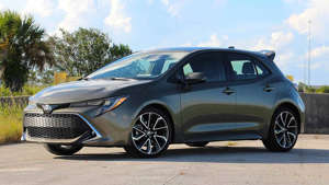 a car parked in a parking lot: 2019 Toyota Corolla Hatchback