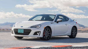 a car parked in a parking lot: 2017 Subaru BRZ