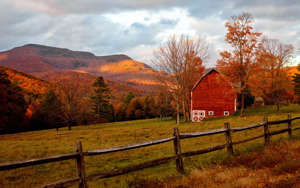 a bench on a farm: The Catskill Mountains are practically the perfect fall landscape. Once you've taken in the scenery, and gotten the best Instagram, the Hunter Mountain Oktoberfest offers visitors four weekends of live entertainment, great food and German cultural activities.