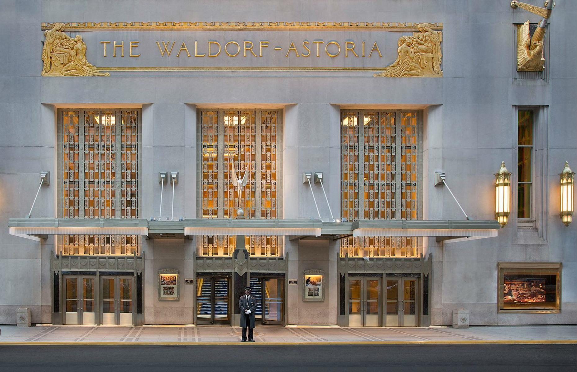 Slide 30 of 45: New York's Waldorf Astoria hotel is a historic establishment that has hosted royalty, presidents and film stars over its long history. It's currently closed for refurbishment and isn't planned to reopen until 2021.