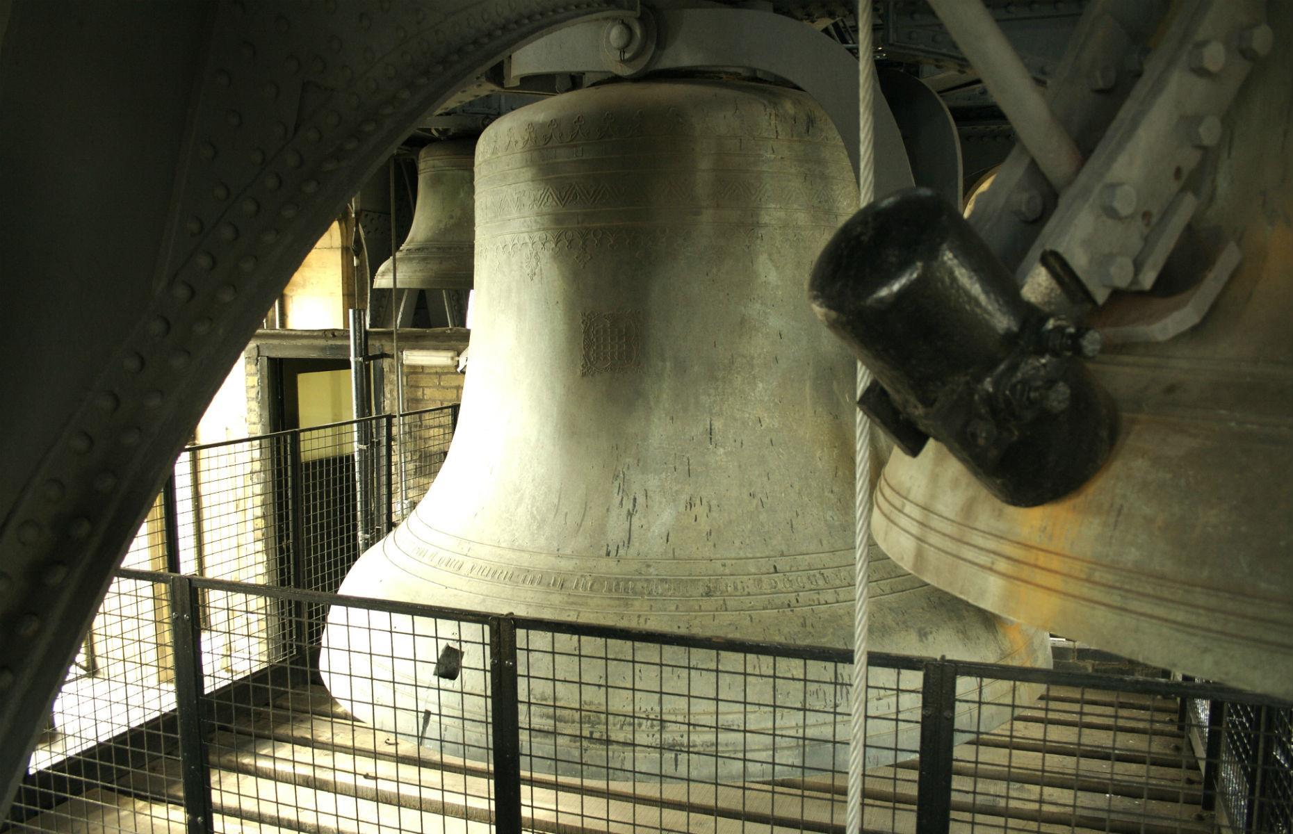 Slide 21 of 45: Despite its famous gong sound – which won't sound again until 2021 – Big Ben is far from perfect: it's cracked. In 1859, a new bell that had replaced a previously broken one also cracked, meaning Big Ben didn't chime for four years. The solution, rather than a third new bell, was to turn it so the hammer struck a different spot. The hammer was also replaced by a lighter version, and a square was cut into the bell to stop the crack from spreading. Tower tours are currently suspended while works take place, but there are free monthly talk and virtual tours available instead.