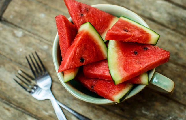 Slide 2 of 25: You may not have considered eating watermelon skin before but it's actually very versatile. Grated rinds can be used as an alternative to cabbage in coleslaw or added to salsa. Pickled rinds are also popular in South Africa where they're used to make a sweet jelly that's sometimes served with cheese.