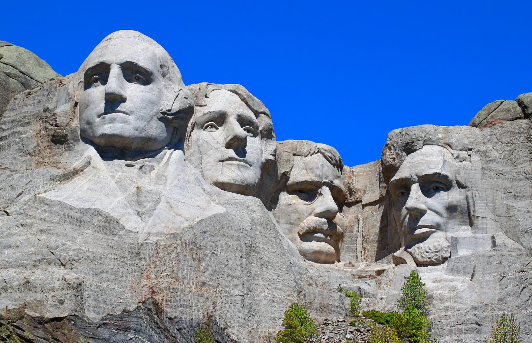 Slide 31 of 31: These gargantuan granite faces, carved into South Dakota's Mount Rushmore, are among America's best-known landmarks. But one of the stone presidents – Abraham Lincoln – harbors a secret. Inside his head, there's a hidden chamber originally built by sculptor Gutzon Borglum to hold important records and documents central to US history. Today the room contains a series of panels, inscribed with such writings as the US Constitution and the Declaration of Independence.