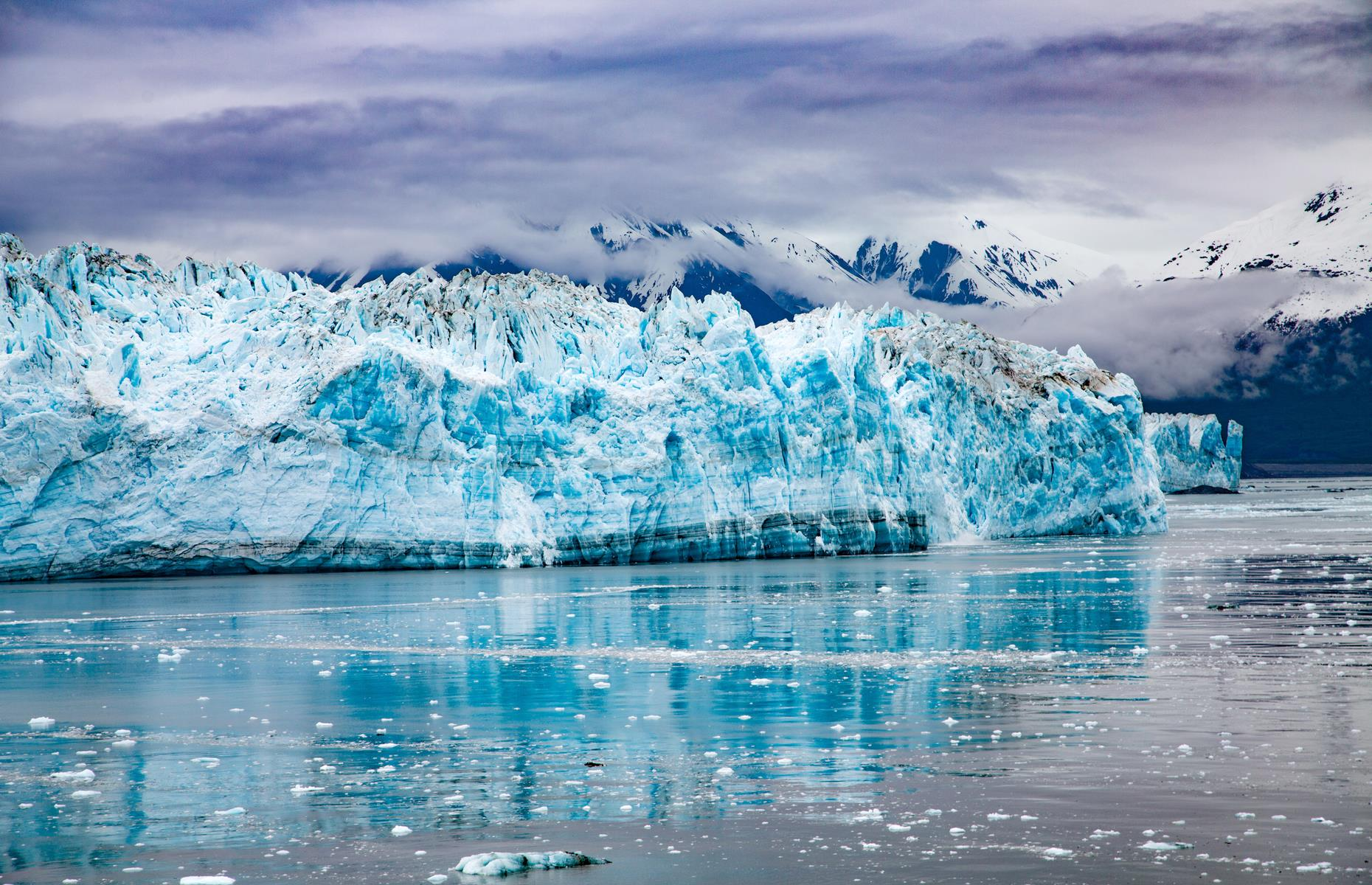 "Slide 48 of 61: The Hubbard Glacier is one of Alaska's most impressive. It's situated in the eastern part of the state, off the coast of Yakutat, and is a gargantuan six miles-plus wide and 400-feet (122m) tall at its highest point. The blue-hued beast is well-known for being ""active"", slowly advancing through the gulf, rather than retreating like many other of the world's glaciers."