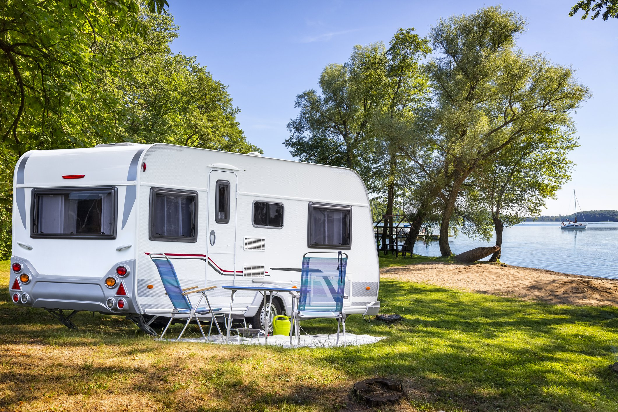Slide 9 of 10: According to VacationRenter, searches for RVs were up more than 350 percent at the beginning of the summer compared to the quarantine spring, and over twice the previous all-time high. So there's a better than average chance that if you're going on a road trip, you may be traversing the country with the comforts of home at your fingertips. To make it feel even more comfortable, you can bring some camping and entertainment essentials, above, then add these additional RV highlights.  Bedding Folding table and chairs Bikes and locks Outdoor adventure blanket Easy cooking ingredients Snack containers Seat cushions Travel pillow Sun shade  Wherever your park, make sure you follow these 11 unspoken rules of RV etiquette.