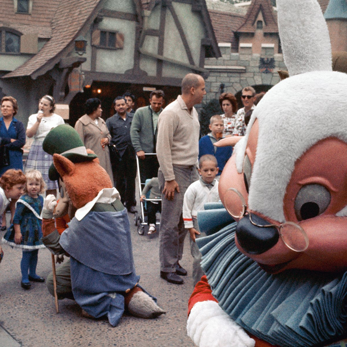 """Slide 3 of 19: Characters from some of Disney's early films—like the White Rabbit from Alice in Wonderland and the mischievous """"Honest John"""" from Pinocchio—entertain visitors in Fantasyland. Here are some Disney recipes you can recreate at home."""