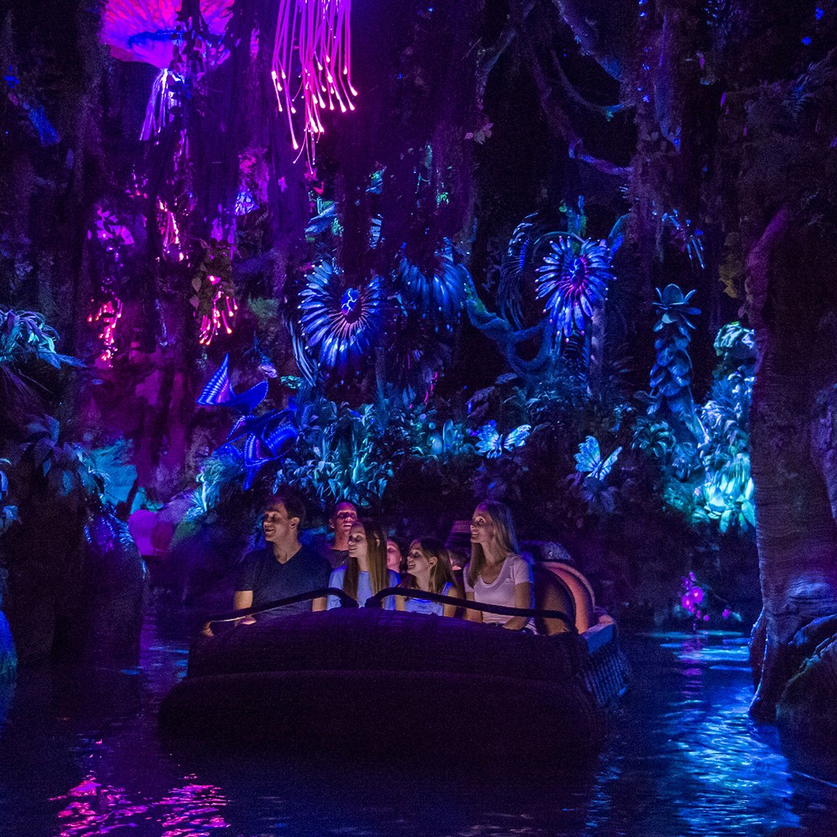 Slide 18 of 19: A new attraction based on James Cameron's Avatar film was introduced at Disney's Animal Kingdom in May 2017. The Na'vi River Journey ride, seen here, takes guests through the enchanting world of Pandora.