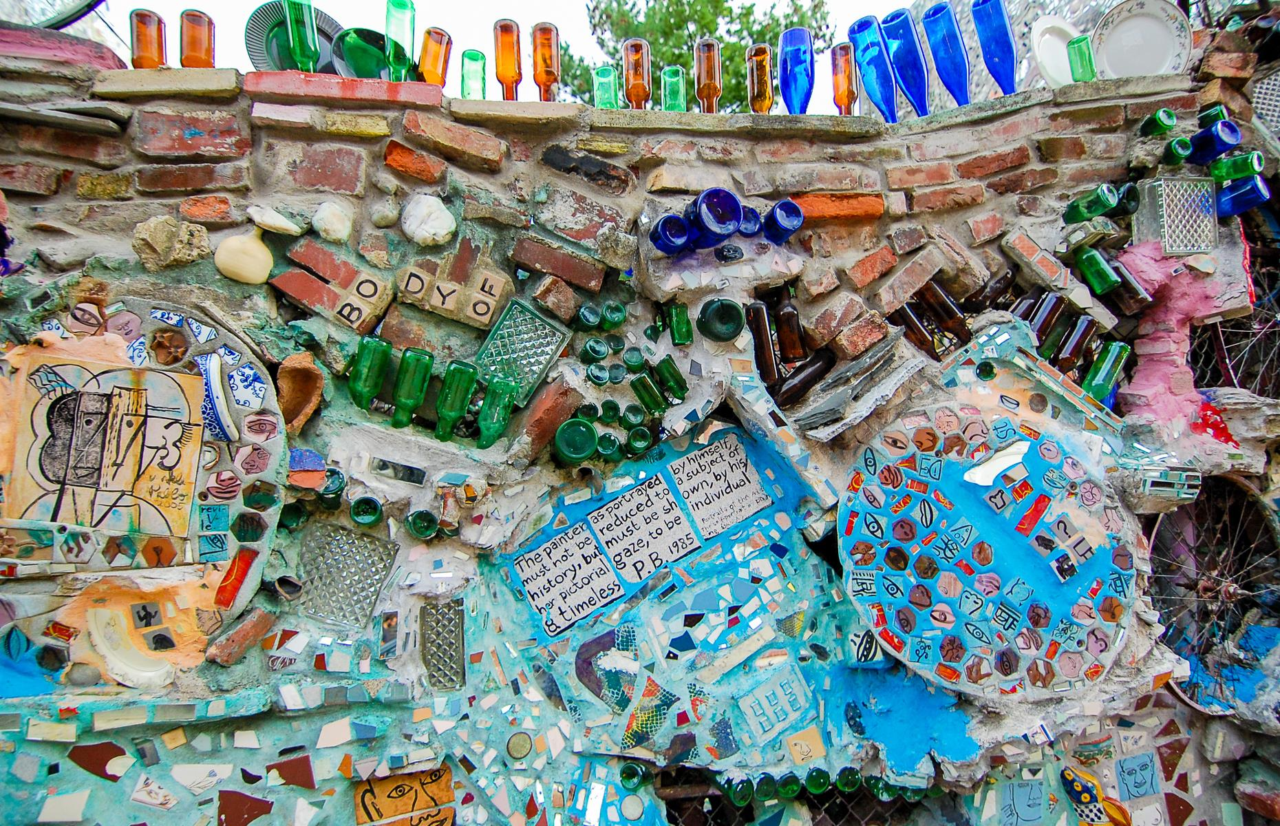 Slide 7 of 37: An open-air gallery, the Magic Gardens is a labyrinth of mosaic passageways created by Philadelphia artist Isaiah Zagar. The first mirrored tile was placed back in 1991, a stone's throw from Zagar's studio. Today, the installation stretches around half a block.