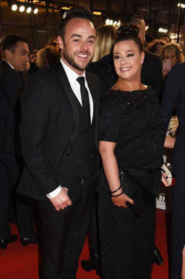 Anthony McPartlin, Lisa Armstrong posing for the camera: Lisa Armstrong and Ant McPartlin