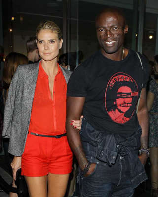 Heidi Klum, Seal posing for the camera: Seal and Heidi Klum