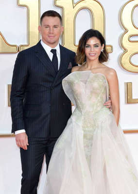 Channing Tatum, Jenna Dewan Tatum in a wedding dress posing for a photo: Channing Tatum and Jenna Dewan