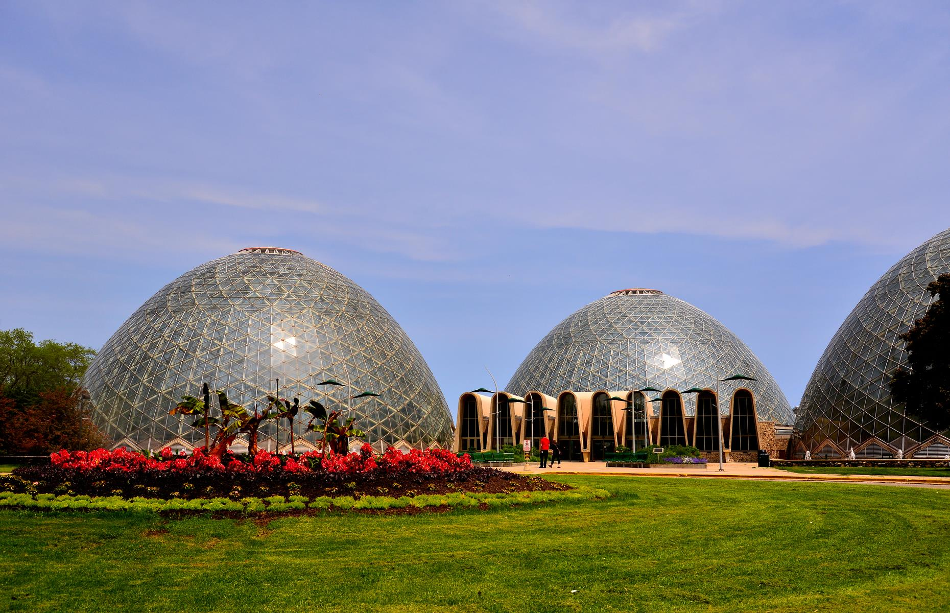 Slide 2 of 31: Designed by Milwaukee architect Donald L. Grieb, the trio of domes in Mitchell Park are both a fine example of Mid-century Modern architecture and a beloved local landmark. Built between 1959 and 1967, the domes also house a heady array of tropical, desert and rainforest plants and blooms.