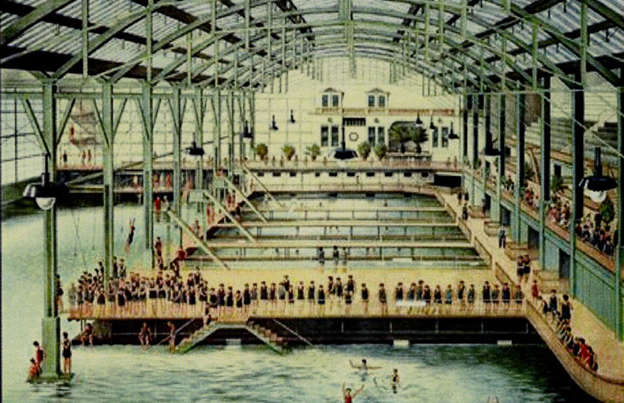 Slide 8 of 39: If you picture San Francisco, attractions such as the Golden Gate Bridge, Alcatraz Island or Lombard Street might spring to mind. But did you know that the city was once home to the world's largest indoor swimming pool establishment? The impressive complex included six saltwater pools and one freshwater pool, with capacity for 10,000 people.