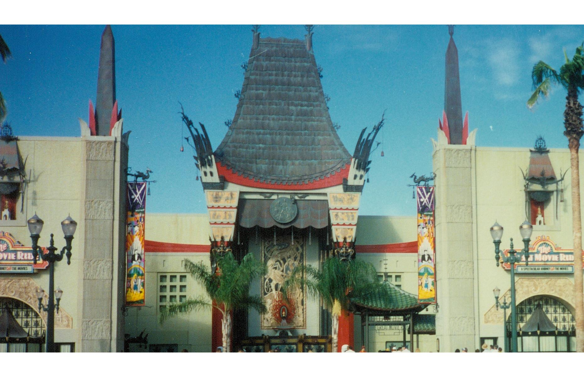 Slide 29 of 38: Disney's Hollywood Studios came later in 1989. The Great Movie Ride (pictured), located in a model of Hollywood's Grauman's Chinese Theatre, was a major attraction of the latter, and only closed down in 2017.