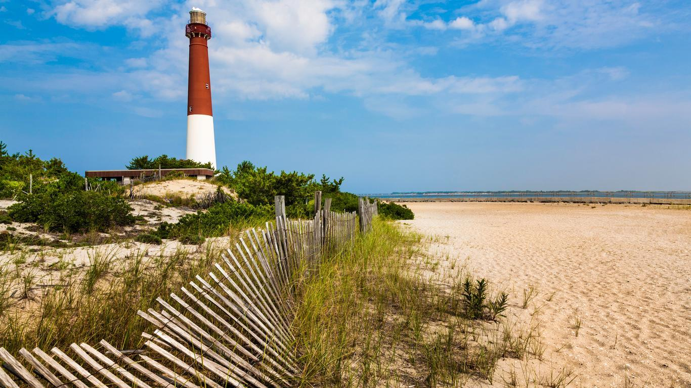 Slide 9 of 11: Undoubtedly a surprise entry in the top five with an average nightly rate of $295, New Jersey's 18-mile-long Long Beach Island offers awesome white-sand beaches and plenty to do for visiting families, including the iconic Fantasy Island Amusement Park.